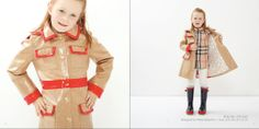 Our classic City Coat  Coated Tan Weave with Red Trim http://oil-water-rainwear.myshopify.com/