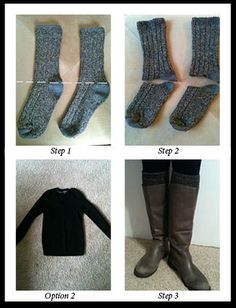 how to... make your own boot socks/leg warmers.