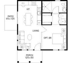 "PERFECT FLOOR PLAN! <3 Sidekick Homes - The ""Julien"" model. 576 sq. ft. 24 X 24"