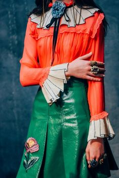 8841961f51b Everything about this look from Gucci Spring Summer 2016 is giving us life.