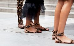 Leopard Feet @ Fall 2011 Fashion Week – Image by The Sartorialist