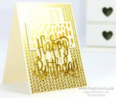 Stampin' Up! Demonstrator Pootles - Golden Vanilla Birthday with Bundle of Love