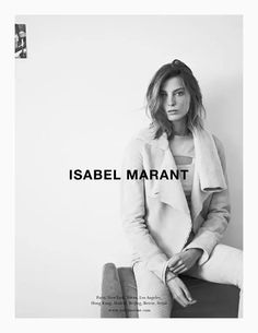Daria Werbowy photographed by Karim Sadli for Isabel Marant, Fall/Winter 2013