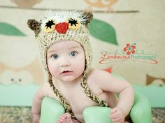 Furry Owl Hat Custom made for you in Newborn to 18 by Bethanys5, $25.00