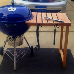 Made at home prep table for the new Webber 22.5 in grill!