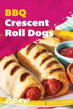 Hot Dog Buns, Hot Dogs, Getting Fired, Dog Recipes, Crescent Rolls, Freshly Baked, Bread Baking, Cravings, Sausage