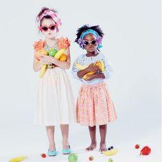 Lemon Loves Lime ruffle top, Lulaland skirt, Bloch ballet flats; Anaïs & I top, Lulaland skirt.