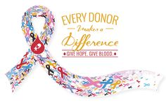 Get your Every Donor Makes a Difference cancer ribbon tee when your register to give blood now through Oct. 31! At CBC donation locations: DonorTime.com