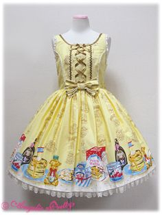 Angelic Pretty - Honey Cake Round JSK in Yellow