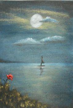 Clifftop View  Original Oil Painting 7 x5