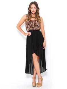Animal Print High Low #Dress