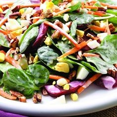 Loaded Spinach Salad  - EatingWell.com