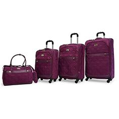 Adrienne Vittadini Diamond Quilted 4 Piece Luggage Set -- Visit the image link more details.