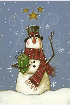 The Cranford Group Snowman Gifts Garden Flag Christmas Balls, Christmas Snowman, Christmas Wreaths, Christmas Crafts, Christmas Decorations, Christmas Ornaments, Merry Christmas, Xmas, Pintura Country