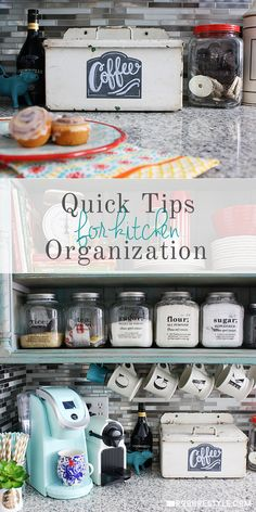 DIY Quick Tips for Kitchen Organization - Find out how to maximize space in deep drawers and better utilize the cabinets in your home.