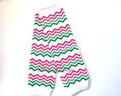 Spring Chevron Thin Stripe NO Ruffle Legwarmers. by Baby K Designs, $7.95