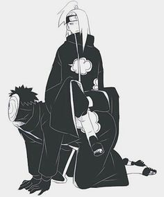 Akatsuki on We Heart It #akatsuki #tobi #deidara