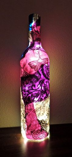 ECOMANIA BLOG: Decorando tus Botellas de Cristal