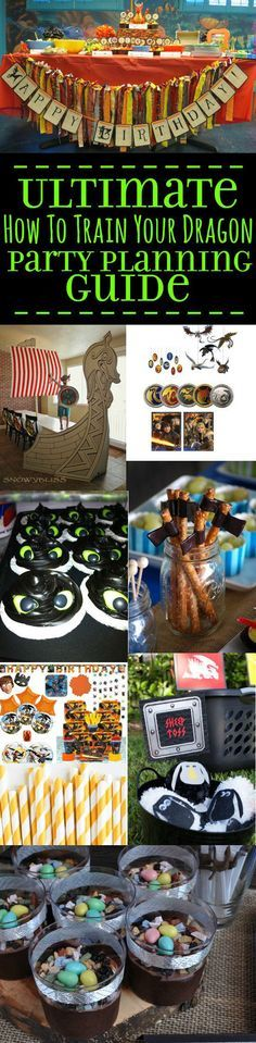 How To Train Your Dragon Birthday Party Ideas - The Ultimate Birthday Party Planning Guide The Ultimate Toothless and How to Train Your Dragon Birthday Party ideas and planning guide, with birthday ca Dragon Birthday Parties, Dragon Party, Birthday Party Themes, Birthday Cakes, Birthday Ideas, Toothless Party, Toothless Cake, Birthday Decorations, Food Decorations