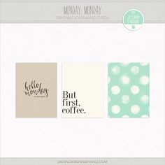 Monday Monday Free Printable Project Life Journaling Cards | [ One Velvet Morning ]