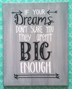 8x10 Home Decor Wall Hanging If Your Dreams by AnchoredCreations2