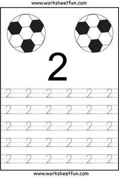 Number Tracing 1-10 - Ten Worksheets