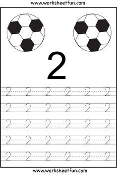 Number Tracing 1-10 - Ten Worksheets