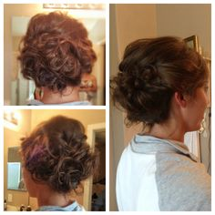 Prom hair #hairstyle #updo
