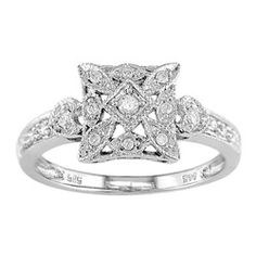 @Overstock - This captivating ring features an intricate vintage design adorned with sparkling 287..diamonds.http://www.overstock.com/Jewelry-Watches/14k-White-Gold-1-6ct-TDW-Diamond-Lightweight-Ring-I-J-I2-I3/2116823/product.html?CID=214117 $287.99