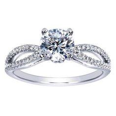 """Ben Garelick Royal Celebrations """"Justine"""" Split Shank Engagement Ring · ER8129W44JJ · Ben Garelick Jewelers"""