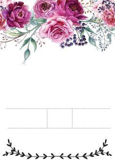 Undangan Invitation Background, Floral Invitation, Invitation Cards, Page Borders Design, Business Holiday Cards, Wedding Anniversary Invitations, Wedding Background, Floral Border, Monogram Wedding