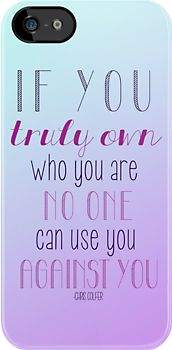   Own Who You Are - Chris Colfer   YES! I agree wholeheartedly with this statement! It's as if I said it myself!