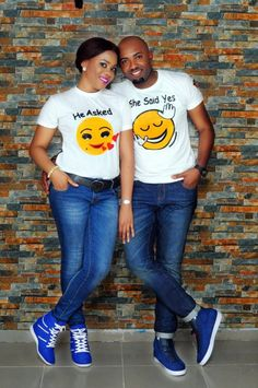 for pre weddings pics Nigerian Wedding Dress, African Wedding Attire, African Attire, African Wear, Cute Couple Shirts, Matching Couple Outfits, African Men Fashion, African Fashion Dresses, Traditional Wedding Dresses
