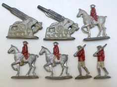 miniature lead soldiers canons WWI Militaria by brixiana on Etsy, $25.00