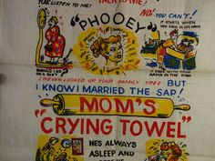 Vintage Mom's Crying Towel Yellowstone Souvenir by iloveyoumore