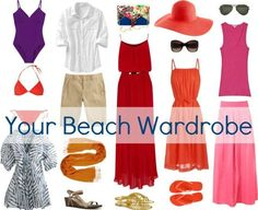 What to pack for vacation - capsule wardrobes for a vacation to the beach and a trip to Europe and plenty of travel packing advice and tips.