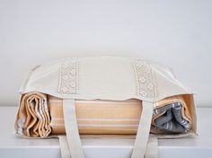 Handmade Organic Cotton Tote Bag.  ecofriendlybeauty  $26