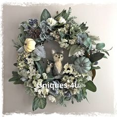 A personal favorite from my Etsy shop https://www.etsy.com/listing/554499317/foxes-autumn-wreath-fall-wreath-blue