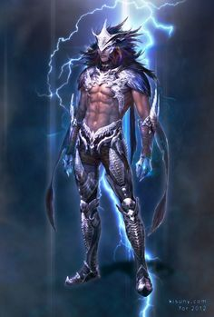 Lightning god idea for the picture of power.