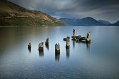 Old jetty ruins on Lake Wakatipu near Queenstown on New Zealand's South Island. Travel Around The World, Around The Worlds, Lake Wakatipu, New Zealand South Island, Sight & Sound, Places Ive Been, Travel Inspiration, Places To Visit, To Go