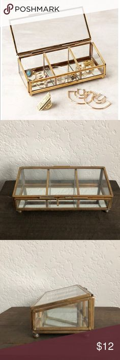 UO Glass Jewelry Box Gently used. Has just been sitting in my vanity drawer. No imperfections! Super cute! Urban Outfitters Jewelry