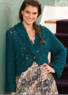 This crochet sweater is both comfy and beautiful with the lace made from foundation single crochet and the shell stitch. The instructions include sizing from small to xx large, so anyone can wear this wonderful sweater.