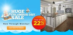 Our Huge Columbus Day Sale starts today! Visit our website to find out more!