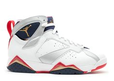 08f2dc7de69 2018 Big Discount AIR JORDAN 7 RETRO OLYMPIC 2012 RELEASE white mtllc  gold-obsdn-