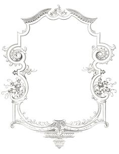 76 best borders images on pinterest moldings picture frame and 15 Passenger Van Inside fancy scrolled frame from sheet music