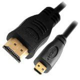 3M (10 feet) Premium Micro HDMI (Type D) to HDMI (Type A) High Speed Full HD 1080p, hdmi micro to hdmi 3M cable 1.4v, micro hdmi to hdmi cable for e book reader, fire HD, Microsoft Surface tablet, Mobile Phone, Cameras, other Tablets or device with Micro HDMI Port, GOLD Plated