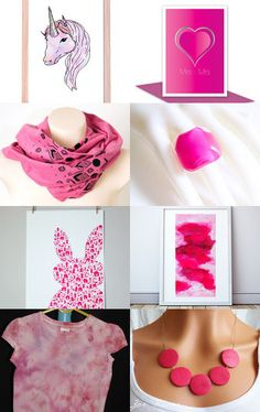 Pink Ombre by Debbie O'Shea on Etsy--Pinned with TreasuryPin.com