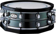 """5.5""""x14"""" Yamaha Steel Steve Gadd Signature Snare Drum with Wood Hoops."""