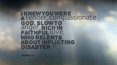 Jonah 4:2 Prophet Jonah, Compassion, Knowing You, Cards Against Humanity, Faith, God, Dios, Praise God, Religion
