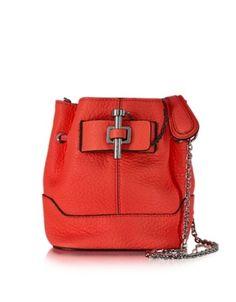 Malher Petit Sanguine Leather Bucket Bag